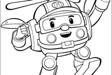disegni robot da colorare per bambini robocar poli disegni da colorare foto