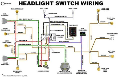 eb headlight switch wiring diagram early bronco build list early bronco