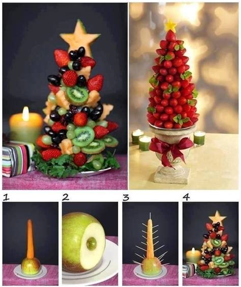 christmas tree fruit centerpiece appetizers pinterest
