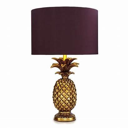 Lamp Pineapple Gold Lamps Debenhams Table Lighting