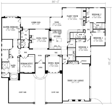 5 bedroom floor plans 1 european style house plan 5 beds 3 5 baths 3619 sq ft