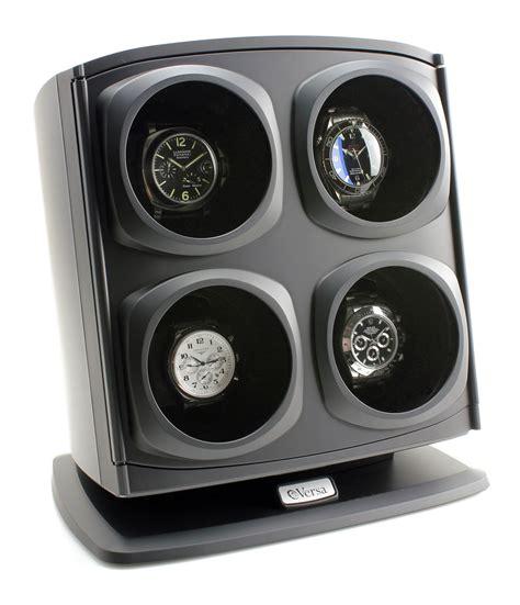 Versa Automatic Quad Watch Winder - Black - p-825
