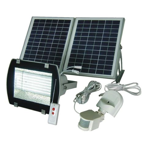 solar flood light with rf remote