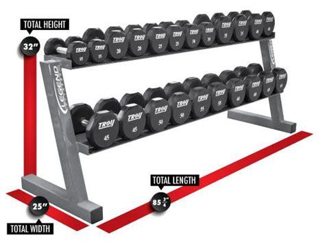 commercial  tier  pair hex dumbbell rack legend fitness  dumbbell rack  home