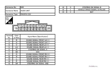 nissan rogue radio wiring diagram