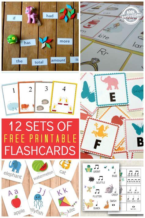 sets   printable flashcards