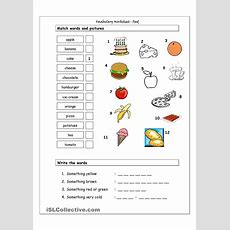 Vocabulary Matching Worksheet  Food  English  Vocabulary Worksheets, Matching Worksheets