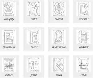 Free Bible Alphabet Coloring Pages