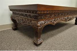 20th Century Vietnamese Hand Carved Asian Coffee Low Table With Asian Ornate Hand Carved Mango Wood Coffee Table All Products Living Coffee Accent Tables Coffee Tables About Hand Carved Antique Chinese Mahogany Coffee Table Side Tables