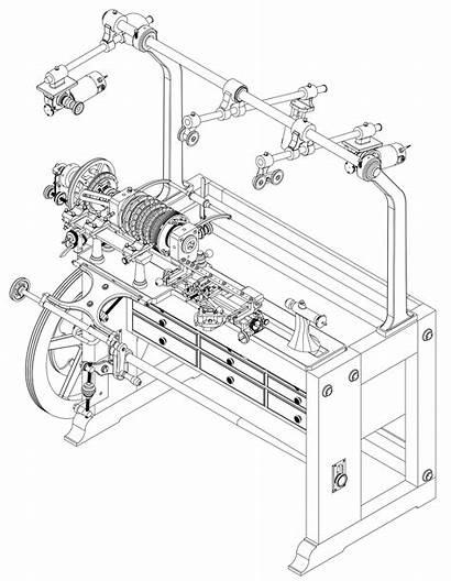 Lathe Drawing Engine Rose Modern Getdrawings