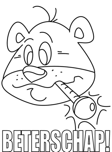 Kleurplaat Beeterschap by Kleurplaat Beterschap 187 Animaatjes Nl