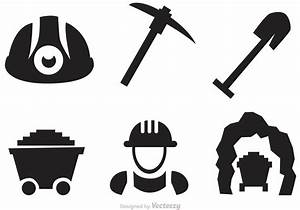 Set Of Mining Icons Vectors - Download Free Vector Art ...