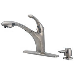 delta kitchen faucet shop delta debonair stainless 1 handle pull out kitchen faucet at lowes