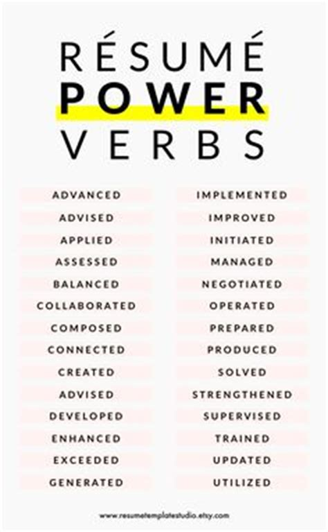 resume verbs and keywords 1000 images about resume on resume design creative resume design and creative resume