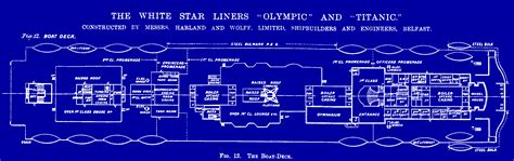 Titanic Boat Deck Map by Woodwork Titanic Plans Ship Pdf Plans