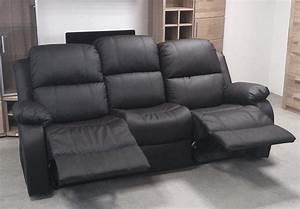 2 Er Sofa Mit Relaxfunktion : sofa lakos 3 sitzer couch polsterm bel in schwarz mit relaxfunktion ebay ~ Bigdaddyawards.com Haus und Dekorationen