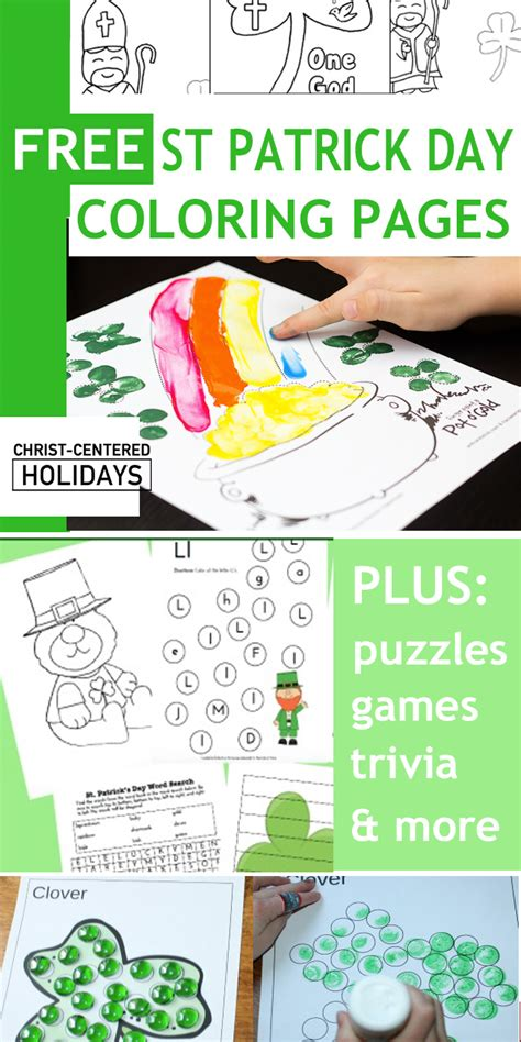 st patrick day coloring pages printables