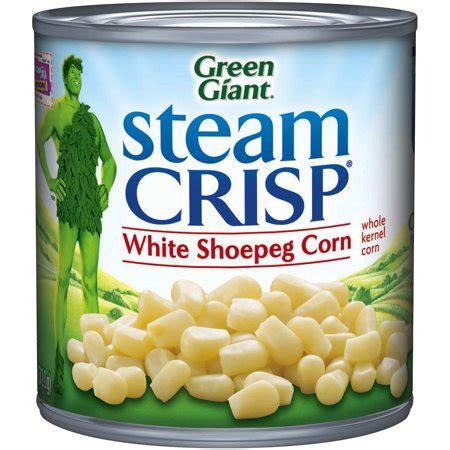 green giant steam crisp white shoepeg  kernel corn