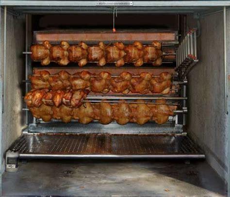 turn  garage door   giant rotisserie  eats