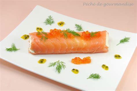 recette de cuisine gastronomique de grand chef cannellonis de saumon fumé œufs de saumon fruit de la