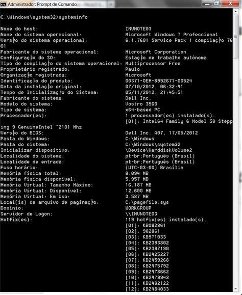 Systeminfo  Comando Poderoso Do Windows Que Muitos Não