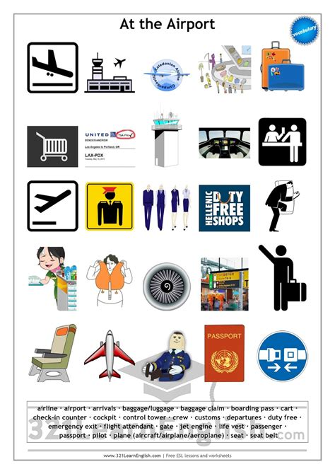 321 learn vocabulary at the airport level b1
