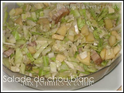 cuisiner le chou blanc en salade salade de chou blanc et pommes cuisine d 39 ici et d 39 ailleurs