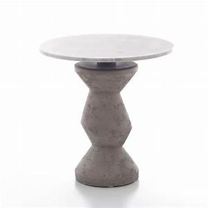 Runder Tisch 80 Cm Durchmesser : inout 837 838 runder tisch gervasoni aus beton mit platte aus marmor in verschiedenen gr en ~ Bigdaddyawards.com Haus und Dekorationen