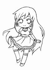 Neko Coloring Anime Maid Base Template Mobile Chibi Vocaloid Lineart sketch template