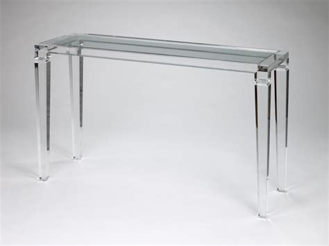 table cuisine fly table console transparente
