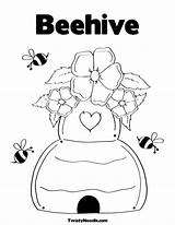 Hive Coloring Pages Beehive Bee Honey Drawing Printable Twistynoodle Bees Simple Flower Getcoloringpages Bumble Cute Sheets Para Easy Getdrawings Animal sketch template