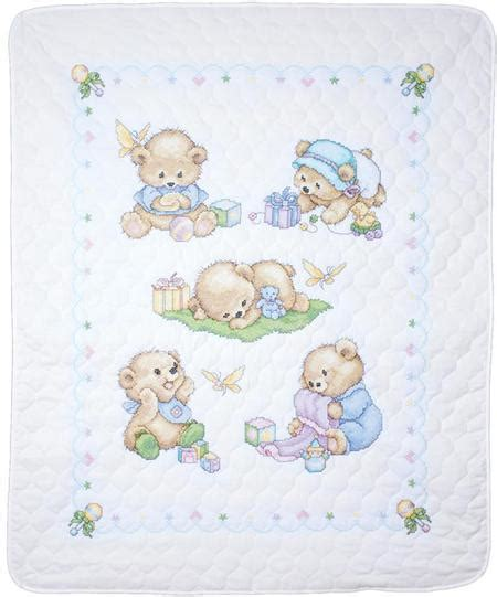 cross stitch quilt kits design works baby bears quilt sted cross stitch kit
