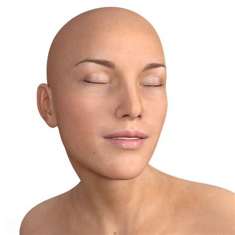 woman bald head face  image  pixabay