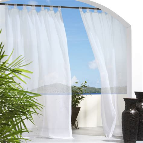 outdoor decor escape velcro tab top outdoor curtain panel