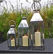 Garden Candle Lanterns Chrome by St Mawes Hurricane Garden Lantern By London Garden Trading Notonthehighstre