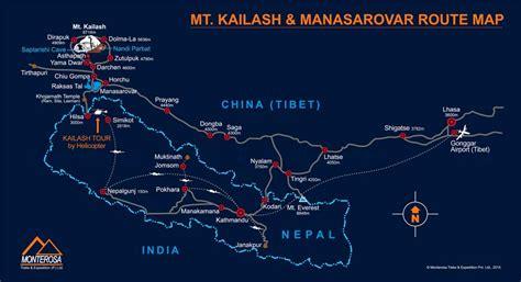 Kailash Route Map, Map for kailash mansarovar