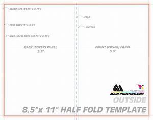 maui printing company inc 85 x 11 half fold brochure With 8 5 x11 brochure template
