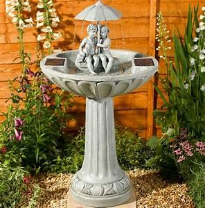 Solar Umbrella Fountain Water Feature