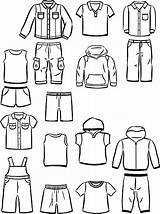 Boys Clothing Little Vector Jacket Illustration Denim Contours Cartoon Clip Illustrations Casual Jeans Similar sketch template