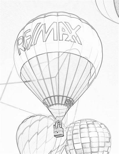 Balloon Air Coloring Balloons Re Estate Remax