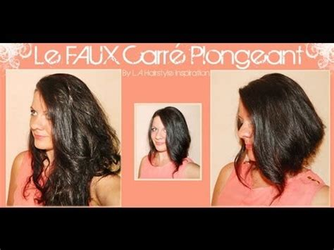 comment se faire un carre soi meme astuce le faux carr 233 plongeant l a hairstyle inspiration