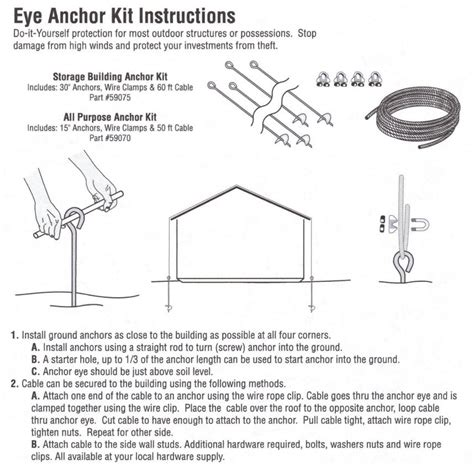 shed anchor kit bq auger valve image shed anchor kit