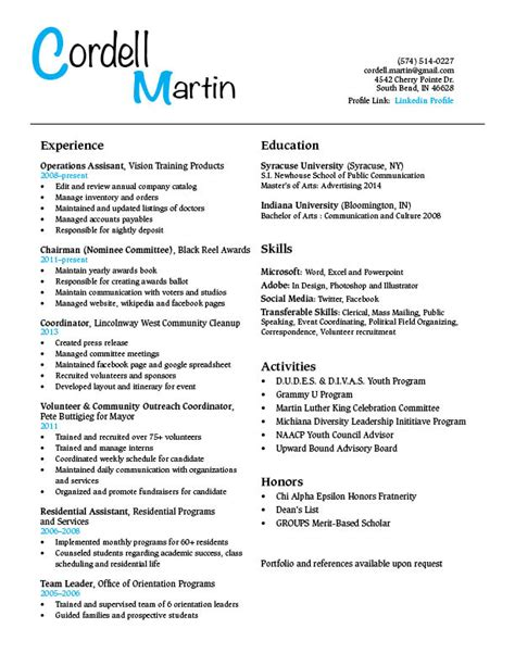 Student Resume by Student Resume Gra617