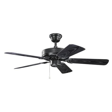 black ceiling fan with light kichler lighting basics revisited satin black ceiling fan