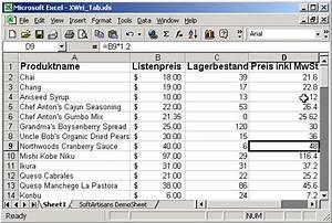 Mehrwertsteuer In Excel Berechnen : sa excelwriter in action ~ Themetempest.com Abrechnung