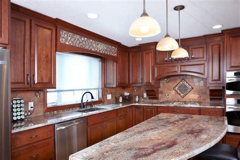 custom cherry cabinets juparana bordeaux granite