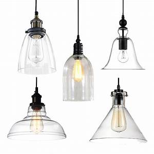 Modern vintage industrial retro glass ceiling lampshade