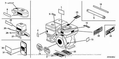 Label Engine Parts Honda Engines Diagram Tha