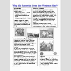 Why Did America Lose The Vietnam War? 8th  12th Grade Worksheet  Lesson Planet
