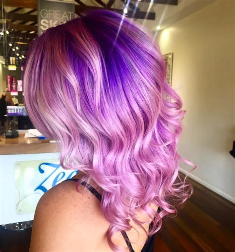 Pink Hair With Purple Roots Colormelt Hair Colors Ideas
